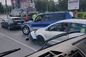 Aleksote – masinė avarija, vienas vairuotojas išvežtas į Klinikas