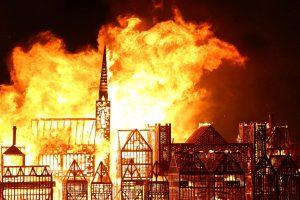 Londono 1666-ųjų gaisras paminėtas padegus įspūdingo dydžio maketą