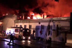 Maskvoje per didžiulį gaisrą žuvo aštuoni ugniagesiai