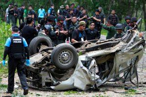 Sprogus bombai žuvo trys Tailando policininkai