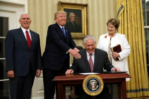 JAV valstybės departamentui vadovaus naftos magnatas