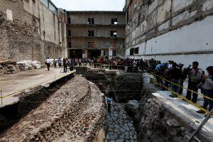 Meksike rasta senovinė actekų šventykla ir žaidimų aikštė