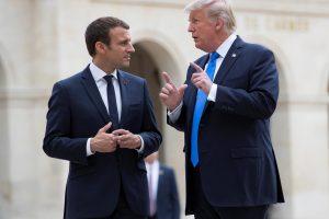 D. Trumpas ir E.Macronas susitarė patraukti Rusiją atsakomybėn dėl agento apnuodijimo