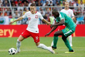 Lenkijos futbolininkai turėjo pripažinti Senegalo pranašumą