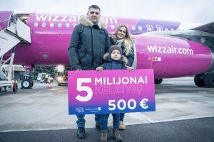 """""""Wizz Air"""" iš Vilniaus pervežė 5 milijonus keleivių"""