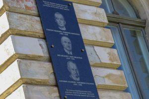 Latvijoje atidengta atminimo lenta Vasario 16-osios Akto signatarams