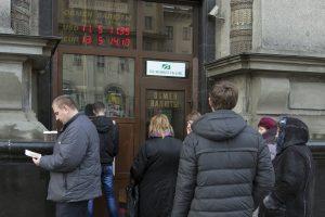 Rusijos rublio krizė išprovokavo paniką Baltarusijoje