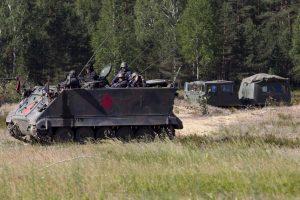 Į Lietuvą treniruotis atvykę Vokietijos kariai pratybas pradėjo mėnesiu anksčiau