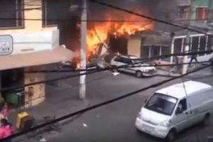 Kolumbijos sostinėje sudužo nedidelis lėktuvas: žuvo keturi žmonės