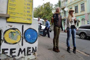 """""""Femen"""" aktyvistei – baudos už V. Putino vaškinės figūros persmeigimą"""