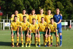 Lietuvos jaunių futbolo rinktinei – slovakų pamokos
