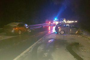 Per avariją Vilniuje sudaužytas ir policijos automobilis