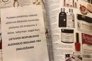 Antausis alkoholio reklamų plėšytojams: užsienio leidiniams – išimtys