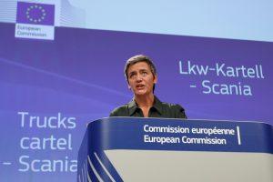 """Po baudos """"Lietuvos geležinkeliams"""" – eurokomisarės vizitas į Lietuvą"""