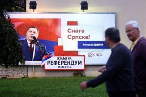 Bosnijos serbai balsuoja dėl savo nacionalinės šventės