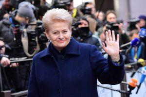 D. Grybauskaitė: jei JAV izoliuosis, Rusija užims jos vietą