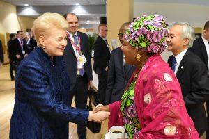 D. Grybauskaitė: pagalba Afrikai – naujiems pabėgėlių srautams išvengti