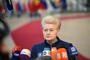 """D. Grybauskaitė: ES sutiks atidėti """"Brexitą"""""""