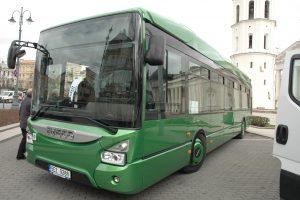 Vilniečiai gali išbandyti modernų ekologišką autobusą