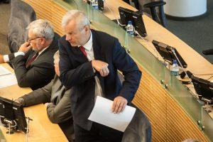Dėl M. Basčio mandato atėmimo žadama balsuoti kovo 13-ąją