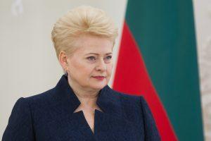 Prezidentė: Rusijai demonstruojant agresiją svarbu neaštrinti situacijos