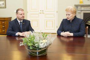Prezidentė atnaujina savaitinius darbo susitikimus su premjeru