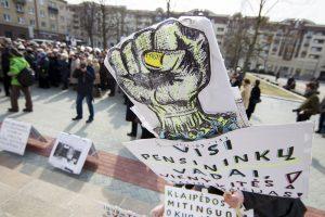 Pensininkai eitynėse valdžiai primins rinkimų pažadus