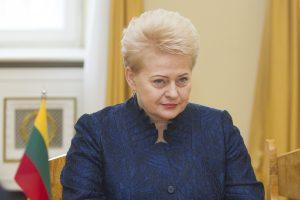 """D. Grybauskaitė: """"Zapad"""" pratybos bus labai naudingos"""