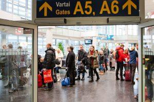 Lietuvos oro uostų keleivių skaičius per metus augo 49 proc.