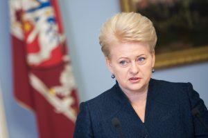 Prezidentė pareiškė užuojautą dėl D.Saukos mirties