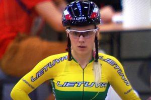 Daugkartinė Europos treko čempionė A. Trebaitė palieka didįjį sportą