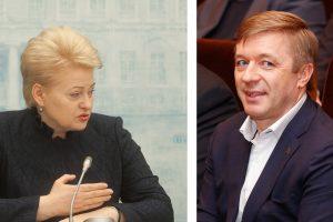 Prezidentės žinutė R. Karbauskiui: labai rimtai pagalvoti, ar likti Seime
