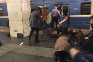 Teroro išpuolio Sankt Peterburgo metropolitene aukų padaugėjo iki 14