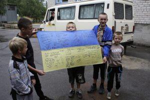 Nuo karo nukentėjusiems vaikams iš Ukrainos – parama