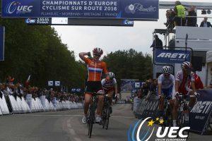 R. Leleivytė Europos dviračių plento čempionate finišavo penkta