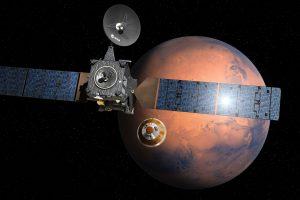 Europos ir Rusijos zondas nuskriejo į Marsą ieškoti gyvybės pėdsakų