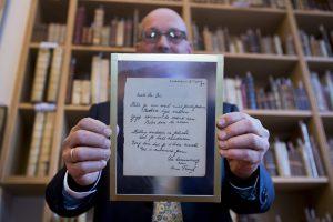 A. Frank eilėraštis aukcione parduotas už 140 tūkst. eurų