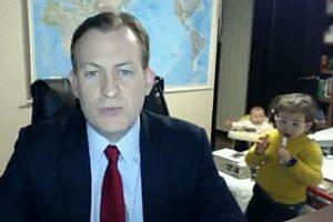 Profesorius prakalbo apie sensacija tapusį vaikų sutrikdytą interviu BBC