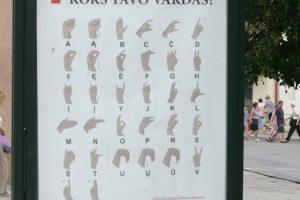 Šiaulių bibliotekose – gestų kalba