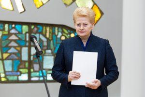 D. Grybauskaitė: keičiasi ne tik Lietuva, bet ir visas pasaulis