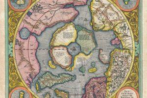 XVI a. Arkties ir viso pasaulio žemėlapiai – su neįtikėtinomis keistenybėmis