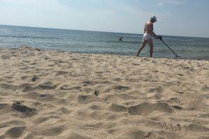 Uostamiesčio paplūdimyje nustebino aukso ieškotojas