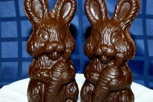 Saugokitės šokoladinių kiškučių