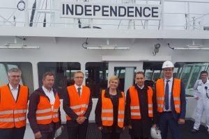 Kroatijos prezidentė lankėsi Klaipėdos SGD terminale