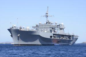 Į Klaipėdą atvyko JAV karinis jūrų laivas