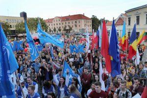 Uostamiesčio studentus suvienijo eitynės ir koncertas