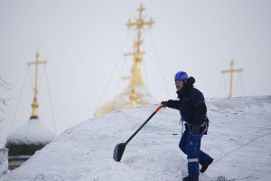 Maskvoje dėl didžiulės pūgos vėluoja skrydžiai, vaikams leista neiti į mokyklas