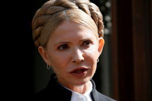 J. Tymošenko paskelbė kandidatuosianti į Ukrainos prezidentus