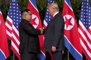 D. Trumpas nekantriai laukia antrojo susitikimo su Šiaurės Korėjos lyderiu