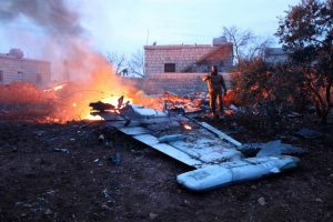 Rusijos lėktuvą numušė į jį pataikiusi šiluminė raketa?